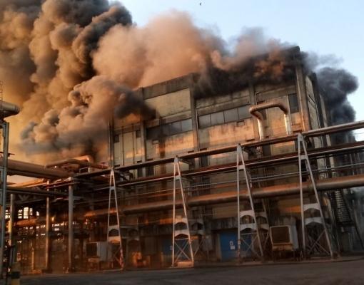 Incêndio na usina Madhu, unidade da Renuka, em Promissão, SP, ocorrido em 2 de julho