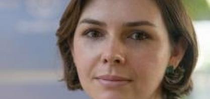 Cristiane Lourenço, Gerente de Desenvolvimento Sustentável e Parcerias na Cadeia de Valor da Bayer CropScience, no V Cana Substantivo Feminino