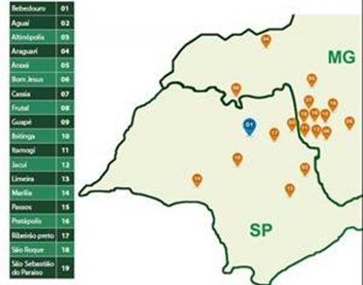 Coopercitrus disponibiliza Centros de Distribuição estratégicos para a entrega e logística de fertilizantes