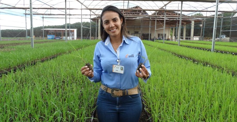 Vivian Cunha, coord. de planej. e desen. Agrícola da Coruripe, no VIII Encontro Cana Substantivo Feminino