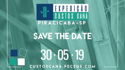 Expedição Custos Cana acontecerá dia 30 de maio de 2019