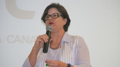 Monika Bergamaschi, ex-secretaria da Agricultura do Estado de São Paulo, no VIII Encontro Cana Substantivo Feminino