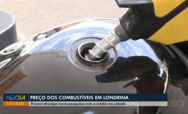 Procon divulga nova pesquisa com a média de preço dos combustíveis em Londrina