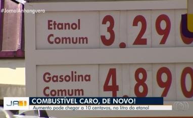 Preço do etanol aumenta novamente em Goiânia