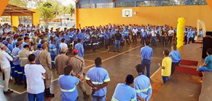 Atvos Realiza encerramento da Campanha de prevenção a depressão e suicídio em escola dos bombeiros em Nova Alvorada do Sul