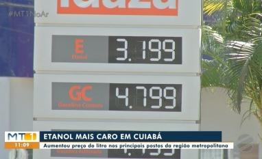 Etanol mais caro em postos de combustíveis da capital