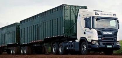 Scania G 410 6×4 XT a biogás começa a fazer o transporte de cana na Cocal