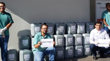 Zilor inicia produção de álcool 70% para doar às comunidades vizinhas