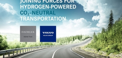 Daimler e Volvo se unem para produzir células de combustível em larga escala