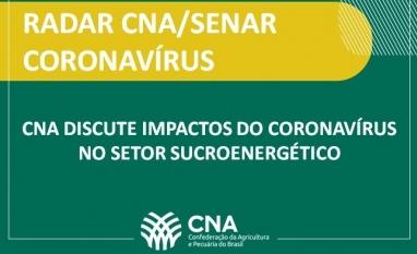 CNA discute impactos do coronavírus no setor sucroenergético