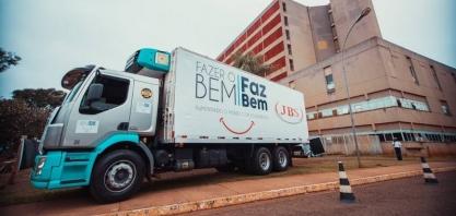 SOLIDARIEDADE  JBS leva mais doações a Campo Grande