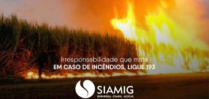 SIAMIG lança campanha de prevenção a incêndios em parceria com Corpo de Bombeiros, TV Integração e SENAR-MG
