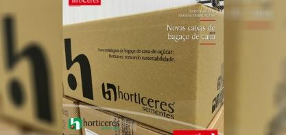 Horticeres Sementes adota embalagens de papelão feitas com bagaço de cana