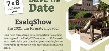 Esalqshow 2021 abordará a Cadeia Produtiva da Cana-de-açúcar