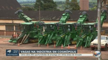 'Blitz do Emprego': usina em Cosmópolis abre 200 vagas
