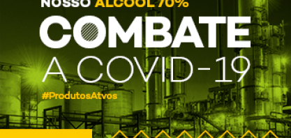 Atvos: nossa produção de álcool 70% combate a Covid-19