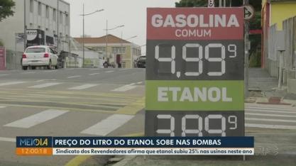 Sindicato diz que preço do etanol subiu 25% nas usinas neste ano