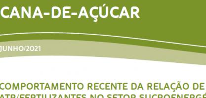 Comportamento recente da relação de troca ATR/Fertilizantes no setor sucroenergético