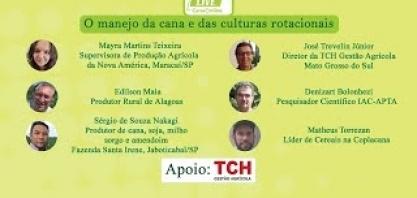 """Live """"O manejo da cana e das culturas rotacionais"""