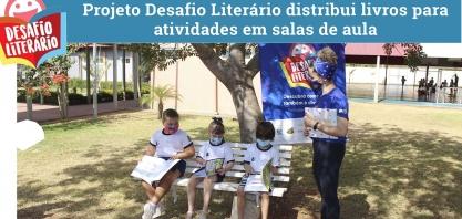 Projeto desafio literário distribui livros para atividades em salas de aula